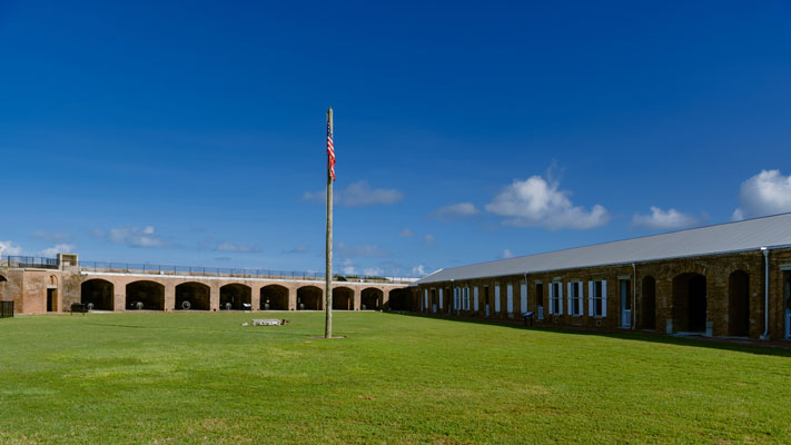 Photo of the courtyard at Fort Taylor