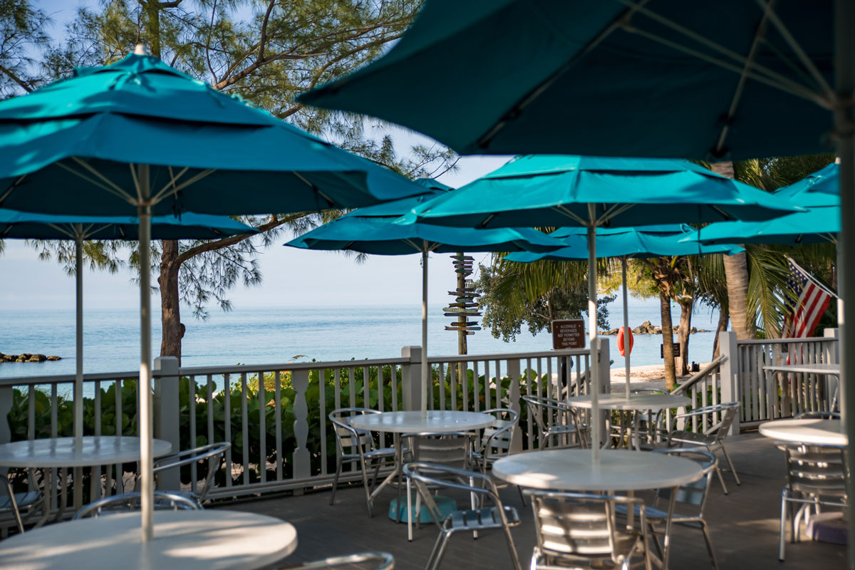 photo of the patio dining tables at Cayo Hueso Cafe